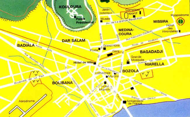 bamako centro mappa